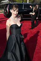 Nominated for BEST PERFORMANCE BY AN ACTRESS IN A TELEVISION SERIES &ndash; COMEDY OR MUSICAL for her role in &quot;GLOW,&quot; actress Alison Brie arrives at the 75th Annual Golden Globes Awards at the Beverly Hilton in Beverly Hills, CA on Sunday, January 7, 2018.<br /> *Editorial Use Only*<br /> CAP/PLF/HFPA<br /> &copy;HFPA/Capital Pictures