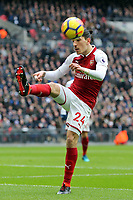 Hector BellerÌn of Arsenal during Tottenham Hotspur vs Arsenal, Premier League Football at Wembley Stadium on 10th February 2018
