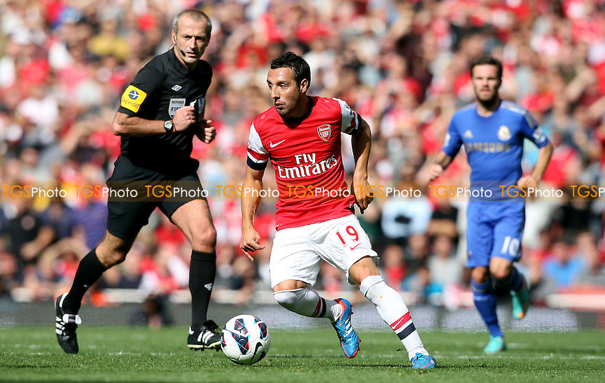 Santi Cazorla of Arsenal - Arsenal vs Chelsea - Barclays Premier League at the Emirates Stadium, Arsenal 29/09/12 - MANDATORY CREDIT: Rob Newell/TGSPHOTO - Self billing applies where appropriate - 0845 094 6026 - contact@tgsphoto.co.uk - NO UNPAID USE.