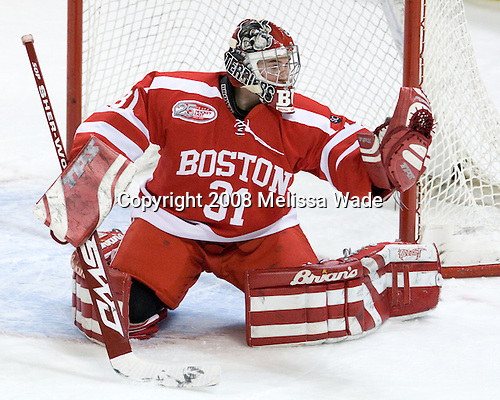 Kieran Millan (Boston University - 31)- The Boston University Terriers defeated the Boston College Eagles 3-1 at Kelley Rink in Conte Forum in Chestnut Hill, Massachusetts.