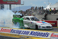Apr. 1, 2012; Las Vegas, NV, USA: NHRA funny car driver Jack Beckman during the Summitracing.com Nationals at The Strip in Las Vegas. Mandatory Credit: Mark J. Rebilas-