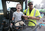 "Walker Odom, 3, learns about Nevada Department of Transportation heavy equipment during the Touch-a-Truck event at the Carson City Library in Carson City, Nev., on Saturday, Aug. 5, 2017. More than 600 people participated in this year's Summer Learning Challenge, themed ""Build a Better Community"".<br /> Photo by Cathleen Allison/Nevada Photo Source"