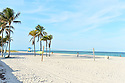 HALLANDALE BEACH, FL - MARCH 17: People walking  on a almost empty beach. Barricades and Signage indicates that an area of Hallandale Beach is closed on March 17, 2020 in Hallandale Beach, Florida. Republican Florida Gov. Ron DeSantis and Hallandale Beach City officials closed the area of the beach that is popular with college spring breakers and asked them to refrain from large gatherings where COVID-19 could spread on March 17, 2020 in Hallandale Beach, Florida.  ( Photo by Johnny Louis / jlnphotography.com )