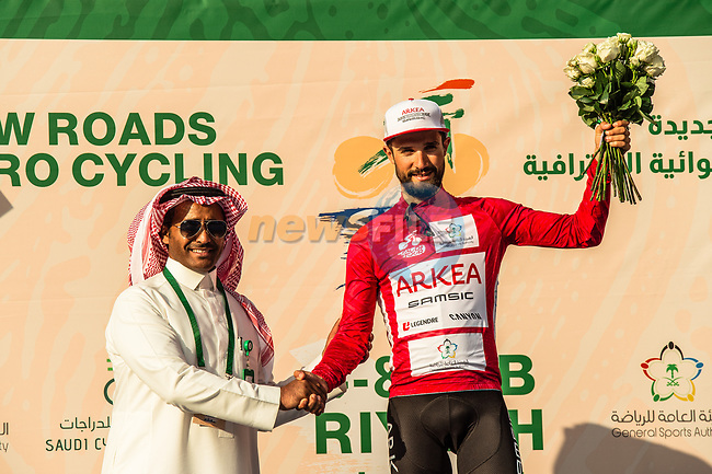 Red Jersey Nacer Bouhanni (FRA) Team Arkea-Samsic wins Stage 4 of the Saudi Tour 2020 running 137km from Wadi Namar Park to Al Muzahimiyah King Saud University, Saudi Arabia. 7th February 2020. <br /> Picture: ASO/Kåre Dehlie Thorstad | Cyclefile<br /> All photos usage must carry mandatory copyright credit (© Cyclefile | ASO/Kåre Dehlie Thorstad)
