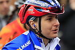 American National Champion Megan Guarnier (USA) Boels-Dolmans Cycling Team at sign on before the start of the Ladies 2017 Strade Bianche running 127km from Siena to Siena, Tuscany, Italy 4th March 2017.<br /> Picture: Eoin Clarke | Newsfile<br /> <br /> <br /> All photos usage must carry mandatory copyright credit (&copy; Newsfile | Eoin Clarke)