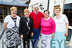 Maisie McCarthy, Siobhan Ahern, Michael Long, Kay Long and Nora O'Connor enjoying the Sliabh Luachra Tea Dance in the Ballygarry House Hotel on Monday