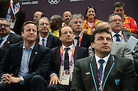 20120730 Olimpiadi Londra 2012 Hollande e Cameron sugli spalti