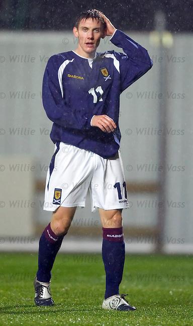 Darryl Duffy, Scotland u21.stock season 2004-2005.pic willie vass