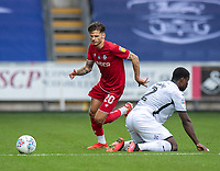 Bristol City's Jamie Paterson (left) holds off the challenge from Swansea City's Marc Guehi (right) <br /> <br /> Photographer David Horton/CameraSport<br /> <br /> The EFL Sky Bet Championship - Swansea City v Bristol City- Saturday 18th July 2020 - Liberty Stadium - Swansea<br /> <br /> World Copyright © 2019 CameraSport. All rights reserved. 43 Linden Ave. Countesthorpe. Leicester. England. LE8 5PG - Tel: +44 (0) 116 277 4147 - admin@camerasport.com - www.camerasport.com