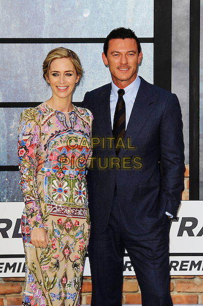 LONDON, ENGLAND - SEPTEMBER 20: Emily Blunt and Luke Evans attending 'The Girl On The Train' World Premiere at Odeon Cinema, Leicester Square on September 20, 2016 in London, England.<br /> CAP/MAR<br /> &copy;MAR/Capital Pictures