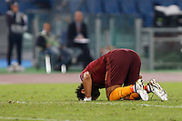 Calcio, Europa League: Roma vs Astra Giurgiu. Roma, stadio Olimpico, 29 settembre 2016.<br /> Roma&rsquo;s Mohamed Salah celebrates after scoring during the Europa League Group E soccer match between Roma and Astra Giurgiu at Rome's Olympic stadium, 29 September 2016. Roma won 4-0.<br /> UPDATE IMAGES PRESS/Riccardo De Luca