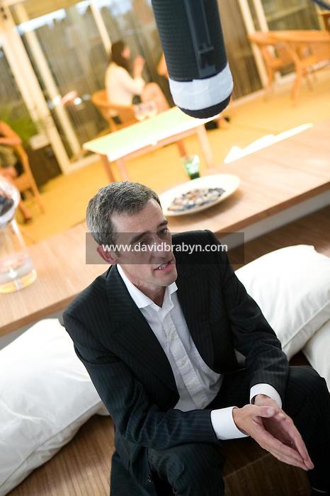 Gilles Duval, dejeuner de presse, 20 ans de la Fondation Groupama-Gan pour le Cinema, Cannes, France, 18 mai 2007.