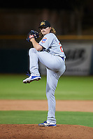 Mesa Solar Sox pitcher Pierce Johnson (22) delivers a pitch during an Arizona Fall League game against the Scottsdale Scorpions on October 20, 2015 at Scottsdale Stadium in Scottsdale, Arizona.  Mesa defeated Scottsdale 5-4.  (Mike Janes/Four Seam Images)