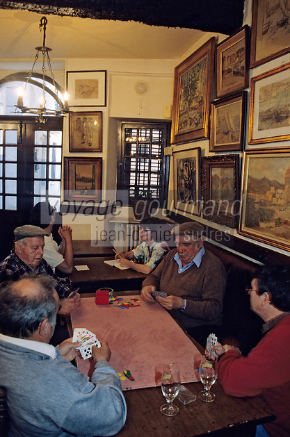 """Europe/France/Languedoc-Roussillon/66/Pyrénées-Orientales/Collioure: Café restaurant """"Les Templiers"""", partie de carte de l'après-midi des vieux catalans [Non destiné à un usage publicitaire - Not intended for an advertising use] [Non destiné à un usage publicitaire - Not intended for an advertising use]"""
