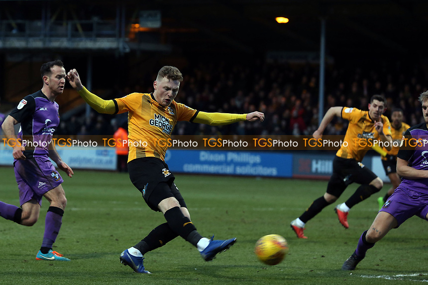 George Maris of Cambridge United goes close during Cambridge United vs Port Vale, Sky Bet EFL League 2 Football at the Cambs Glass Stadium on 9th February 2019