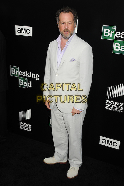 David Costabile<br /> &quot;Breaking Bad&quot; Final Episodes Los Angeles Premiere Screening held at Sony Pictures Studios, Culver City, California, USA, 24th July 2013.<br /> full length grey gray white striped pinstripe suit beard facial hair <br /> CAP/ADM/BP<br /> &copy;Byron Purvis/AdMedia/Capital Pictures