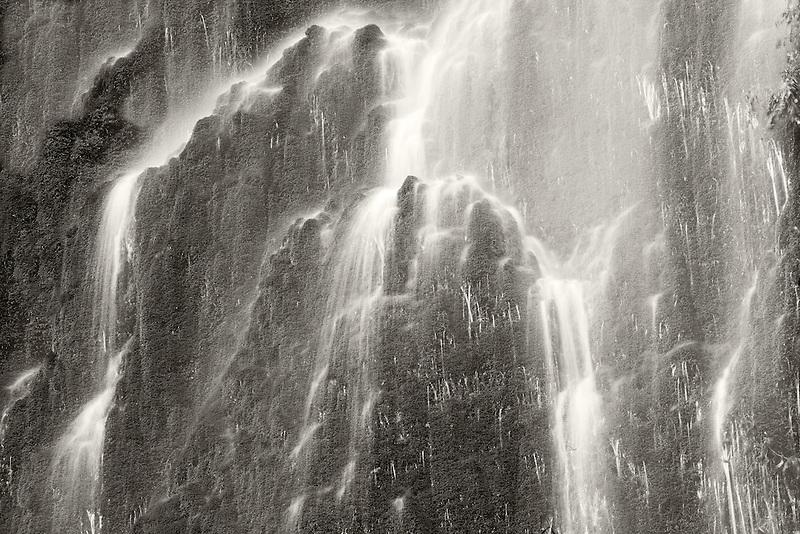 Seasonal waterfall into Tanner Creek.Columbia River Gorge National Scenic Area, Oregon