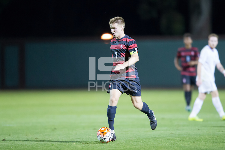 Stanford, CA - October 9, 2015:  Stanford Men\'s Soccer vs Washington on Friday night at Cagan Stadium. The Cardinal tied the Huskies 0-0.