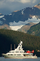 The yacht Triton in Resurrection Bay, Seward, Alaska