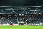 ***BETALBILD***  <br /> Solna 2015-05-10 Fotboll Allsvenskan AIK - IFK Norrk&ouml;ping :  <br /> Vy &ouml;ver Friends Arena med publik , tomma l&auml;ktarplatser och &ouml;vre etage avsk&auml;rmat under matchen mellan AIK och IFK Norrk&ouml;ping <br /> (Foto: Kenta J&ouml;nsson) Nyckelord:  AIK Gnaget Friends Arena Allsvenskan IFK Norrk&ouml;ping inomhus interi&ouml;r interior supporter fans publik supporters