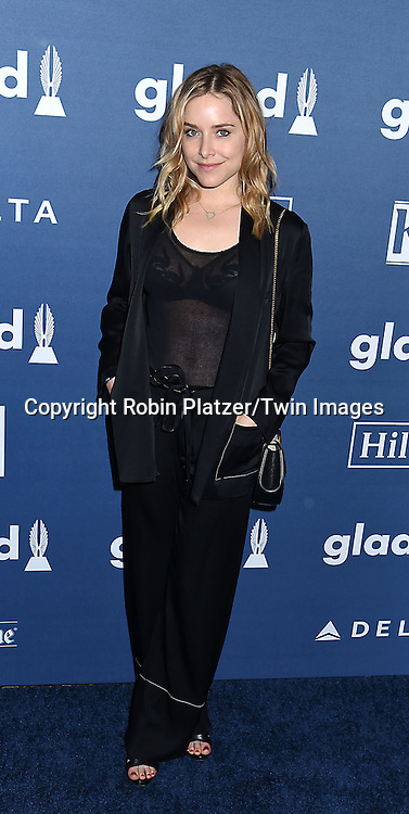 Jenny Mollen attends the 27th Annual GLAAD Media Awards on May 14, 2016 at the Waldorf Astoria Hotel in New York City, New York, USA.<br /> <br /> photo by Robin Platzer/Twin Images<br />  <br /> phone number 212-935-0770