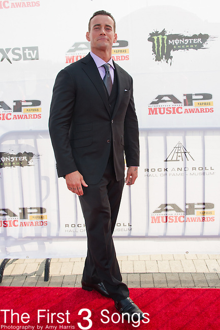 CM Punk attends the 2014 AP Music Awards at the Rock And Roll Hall Of Fame and Museum at North Coast Harbor in Cleveland, Ohio.