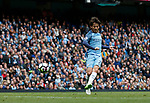 David Silva of Manchester City scores the first goal during the English Premier League match at the Etihad Stadium, Manchester. Picture date: May 13th 2017. Pic credit should read: Simon Bellis/Sportimage