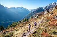 The Via Valais, a multi-day trail running tour connecting Verbier with Zermatt, Switzerland.