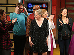 Gerianne Perez, James Snyder, Chesney Snow, Kathleen Marshall, Erin Mackey and Margot Seibert during the Broadway Opening Night Performance Curtain Call for 'In Transit' at Circle in the Square Theatre on December 11, 2016 in New York City.