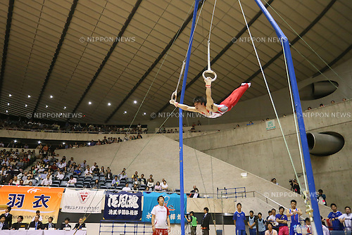 Kohei Uchimura, MAY 11, 2014 - Artistic Gymnastics : The 68th All Japan Gymnastics Championship Men's Individual All-Around Rings at 1st Yoyogi Gymnasium, Tokyo, Japan. (Photo by Yohei Osada/AFLO SPORT)