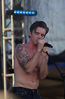 MEXICALI, MEXICO - June 8 Musician/Actor Drake Bell performing on the Tecate Location June 8, 2019 in Mexicali, Mexico.<br /> Tecate Location Mexicali 2019 is one of the main music festivals nationwide and in the state, Band line up<br /> CAIFANES, CAMILO VII, DRAKE BELL, LNG / SHT, SERBIA<br /> (Photo by Luis Boza/VIEWpress)