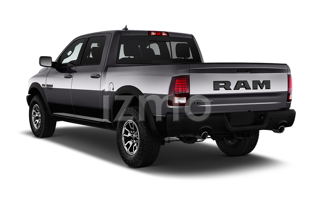Car pictures of rear three quarter view of 2017 Ram 1500 Rebel Crew 4 Door Pick Up angular rear