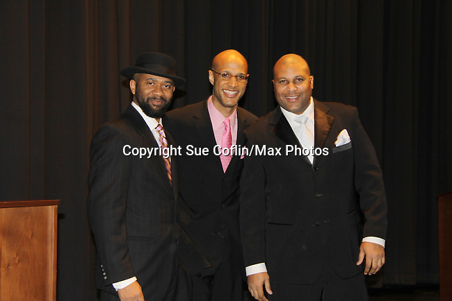 David Boykins, Thom Scott and Layon Gray (Black Angels) The United States Memorial Celebrates Black History Month with a benefit performance of the Layon Gray's Black Angels Over Tuskegee attend the gala on February 22, 2011 in Washington, DC before performing on Friday, February 25. (Photo by Sue Coflin/Max Photos)