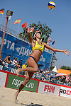 30.05.2015, Moskau, Vodny Stadion<br /> Moskau Grand Slam, Main Draw / Viertelfinale<br /> <br /> Aufschlag / Service Yuan Yue (#2 CHN)<br /> <br />   Foto © nordphoto / Kurth