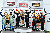 IMSA Continental Tire SportsCar Challenge<br /> Lime Rock Park 120<br /> Lime Rock Park, Lakeville, CT USA<br /> Saturday 22 July 2017 <br /> 27, Mazda, Mazda MX-5, ST, Britt Casey Jr, Matt Fassnacht, 25, Mazda, Mazda MX-5, ST, Chad McCumbee, Stevan McAleer, 84, BMW, BMW 328i, ST, James Clay, Tyler Cooke<br /> World Copyright: Richard Dole<br /> LAT Images<br /> ref: Digital Image RD_LRP_17_01187