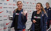 Cleveland, Ohio - Tuesday June 12, 2018: Allie Long, McCall Zerboni during an international friendly match between the women's national teams of the United States (USA) and China PR (CHN) at FirstEnergy Stadium.