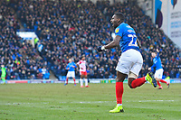 Omar Bogle of Portsmouth celebrates after scoring during Portsmouth vs Doncaster Rovers, Sky Bet EFL League 1 Football at Fratton Park on 2nd February 2019