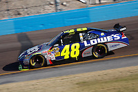 Nov. 15, 2009, Phoenix, AZ: Jimmy Johnson locks up his fourth Sprint Cup Championship late in the seaon at Phoenix International Raceway.