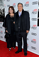 "LOS ANGELES, USA. November 21, 2019: Arturo Sandoval & Marianela Sandoval at the world premiere for ""Richard Jewell"" as part of the AFI Fest 2019 at the TCL Chinese Theatre.<br /> Picture: Paul Smith/Featureflash"