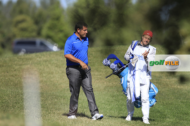 Ricardo Gonzalez (ARG) on the 6th fairway during Round 2 of the Open de Espana  in Club de Golf el Prat, Barcelona on Friday 15th May 2015.<br /> Picture:  Thos Caffrey / www.golffile.ie