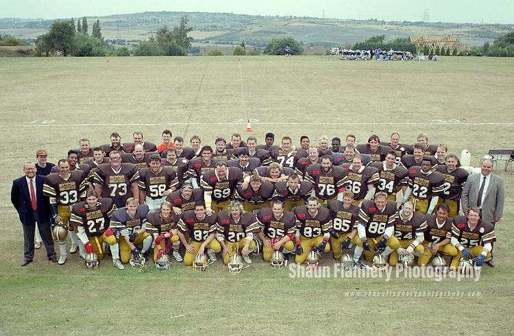 Pix: Shaun Flannery/shaunflanneryphotography.com...COPYRIGHT PICTURE>>SHAUN FLANNERY>01302-570814>>07778315553>>..12th August 1990..Barnsley Bears v Birkenhead Nighthawks..Quarter Final Playoffs..