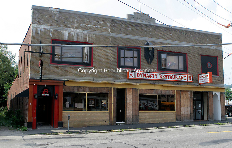TORRINGTON, CT-25July 2006-072506TK08- On 131 Water Street is the location of Otters Pub and Dynasty Restaurant. Tom Kabelka Republican-American (Otters Pub and Dynasty Restaurant)