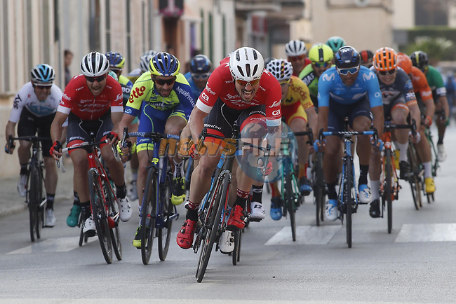 John Degenkolb (GER) opened his season with a victory, sprinting to the win in the 1st day of the Challenge Cyclista Mallorca from Campos to Ses Salines. 25th January 2018.<br /> Picture: Luis Angel Gomez/Photogomezsport | Cyclefile<br /> <br /> <br /> All photos usage must carry mandatory copyright credit (© Cyclefile | Luis Angel Gomez/Photogomezsport)
