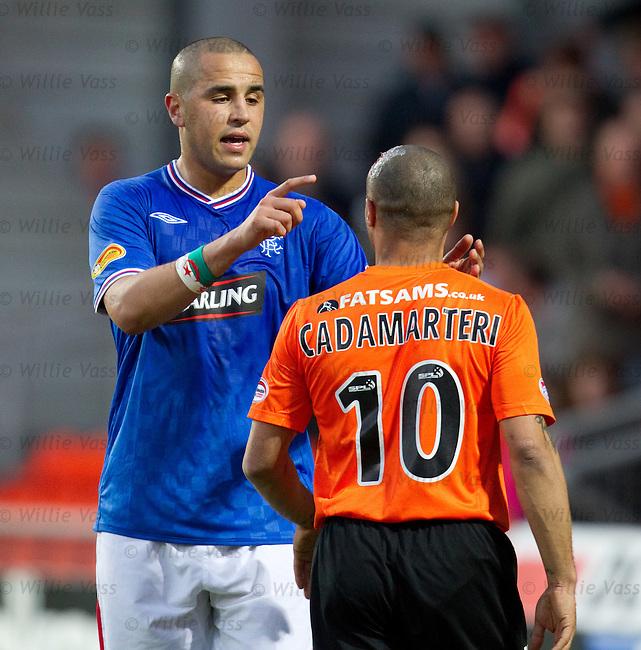Madjid Bougherra points out Danny Cadamarteri's bleeding bonce