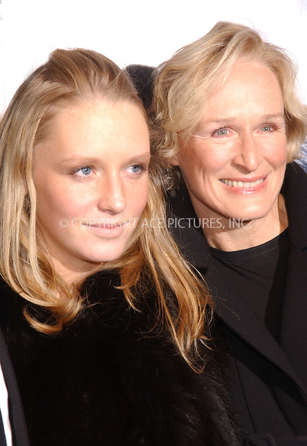 "WWW.ACEPIXS.COM . . . . .....December 5 2005, New York City....ANNIE MAUDE STARKE, GLEN CLOSE....Red Carpet arrivals for the premiere of Universal Pictures' ""King Kong"" which took place at Loews E walk in Times Square. ......Please byline: Kristin Callahan - ACEPIXS.COM.... *** ***..Ace Pictures, Inc:  ..Philip Vaughan (212) 243-8787 or (646) 769 0430..e-mail: info@acepixs.com..web: http://www.acepixs.com"