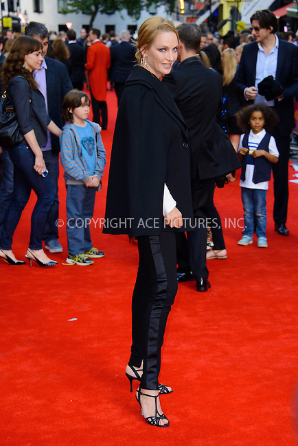 WWW.ACEPIXS.COM<br /> <br /> US Sales Only<br /> <br /> June 25 2013, London<br /> <br /> Uma Thurman at the 'Charlie and the Chocolate Factory' Press night at Drury Lane Theatre on June 25 2013 in London<br /> <br /> By Line: Famous/ACE Pictures<br /> <br /> <br /> ACE Pictures, Inc.<br /> tel: 646 769 0430<br /> Email: info@acepixs.com<br /> www.acepixs.com