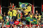 06 July 2007: Brazil fans, pregame. The Under-20 Men's National Team of the United States defeated Brazil's Under-20 Men's National Team 2-1 in a Group D opening round match at Frank Clair Stadium in Ottawa, Ontario, Canada during the FIFA U-20 World Cup Canada 2007 tournament.