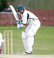 Rosh Tennakoon bats for North London during the Middlesex County Cricket League Division Three game between North London and Wembley at Park Road, Crouch End on Sat Aug 2, 2014