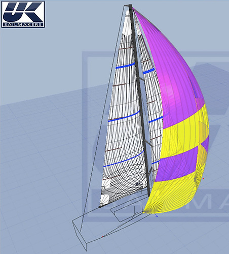Sail design set up and 3D modelling