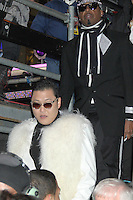 NEW YORK, NY DECEMBER 31: Psy and MC Hammer at New Year's Eve 2013 in Times Square in New York City. December 31, 2012. New York City. Credit: RW/MediaPunch Inc.
